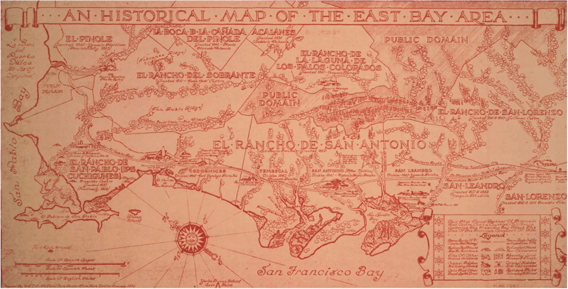 PERALTA HACIENDA - Antique looking maps